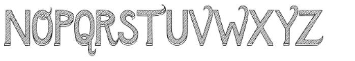 Azebra 3D Font UPPERCASE