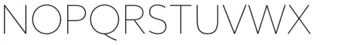 Azo Sans Thin Font UPPERCASE