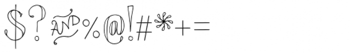 Azola Cursive Font OTHER CHARS