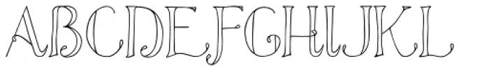 Azola Cursive Font UPPERCASE