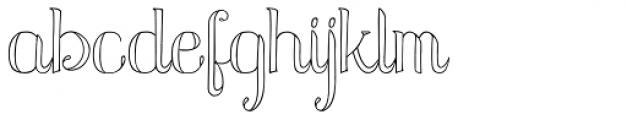 Azola Cursive Font LOWERCASE