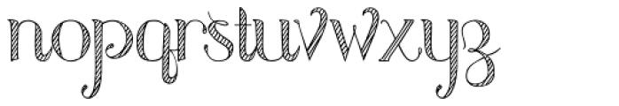 Azola Za Cursive Font LOWERCASE