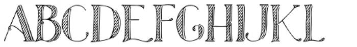 Azola Za Shadow Font UPPERCASE