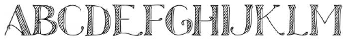 Azola Za Shadow Font LOWERCASE