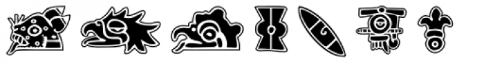 Aztec Day Signs Font UPPERCASE