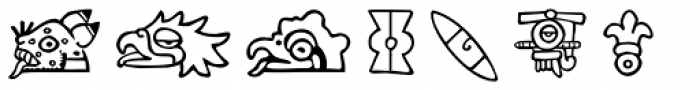 Aztec Day Signs Font LOWERCASE