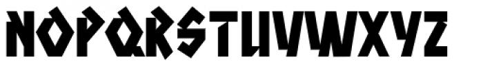 Aztech Clunk Font LOWERCASE