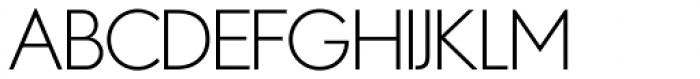 Azur Extra Light Font UPPERCASE