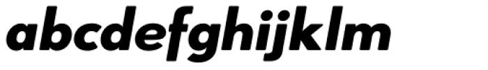 Azur Heavy Italic Rounded Font LOWERCASE