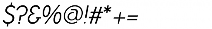 Azur Light Italic Font OTHER CHARS