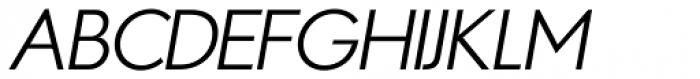 Azur Light Italic Font UPPERCASE