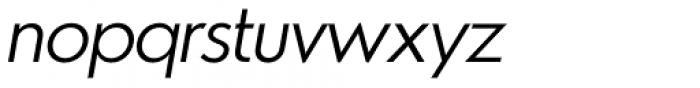 Azur Light Italic Font LOWERCASE