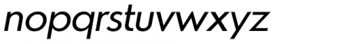 Azur Normal Italic Font LOWERCASE