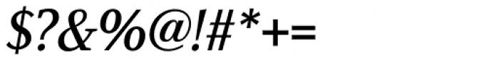 Azuza Medium Italic Font OTHER CHARS