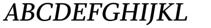 Azuza Medium Italic Font UPPERCASE