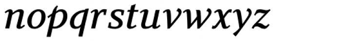 Azuza Medium Italic Font LOWERCASE