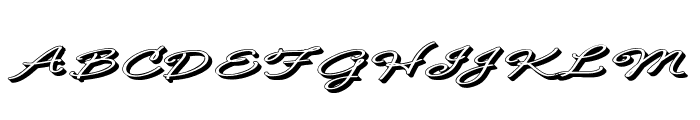 B de bonita Rotulo Font UPPERCASE