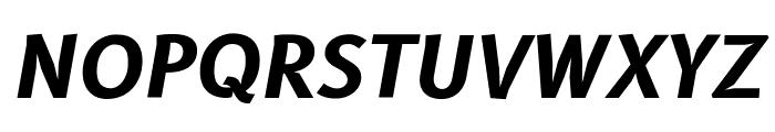 B612 Bold Italic Font UPPERCASE