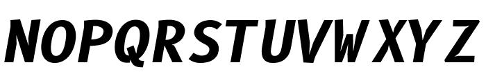 B612 Mono Bold Italic Font UPPERCASE