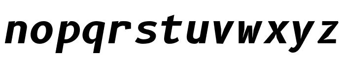 B612 Mono Bold Italic Font LOWERCASE