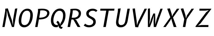 B612 Mono Italic Font UPPERCASE