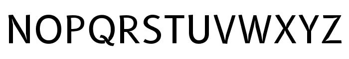 B612 Regular Font UPPERCASE