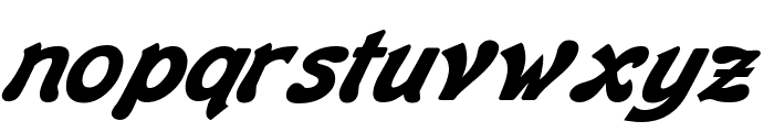 Banner BoldItalic Font LOWERCASE