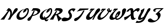 Banner Italic Font UPPERCASE