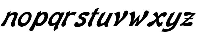Banner Italic Font LOWERCASE