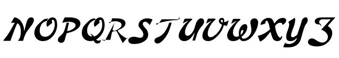 Banner Lite Bold Font UPPERCASE