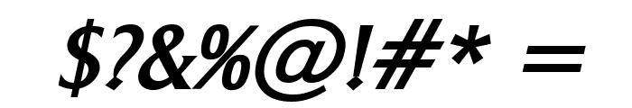 Barrett Bold Italic Font OTHER CHARS