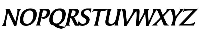 Barrett Bold Italic Font UPPERCASE