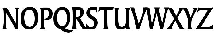 Barrett Condensed Bold Font UPPERCASE