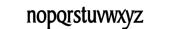 Barrett Condensed Bold Font LOWERCASE