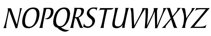 Barrett Condensed Italic Font UPPERCASE
