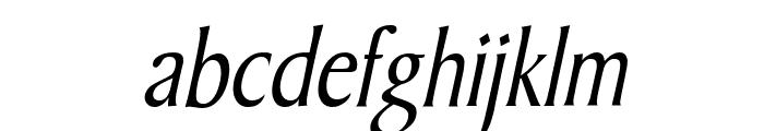 Barrett Condensed Italic Font LOWERCASE