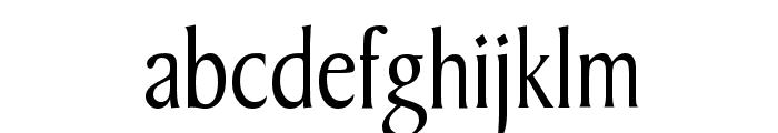 Barrett Condensed Normal Font LOWERCASE