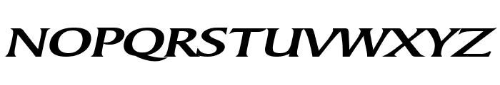 Barrett Extended Bold Italic Font UPPERCASE