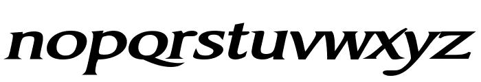 Barrett Extended Bold Italic Font LOWERCASE