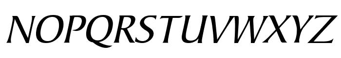 Barrett Italic Font UPPERCASE