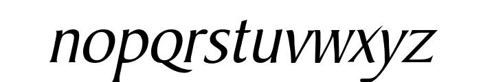 Barrett Italic Font LOWERCASE