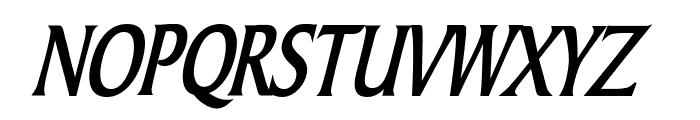 Barrett Thin Bold Italic Font UPPERCASE