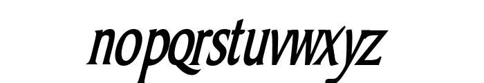 Barrett Thin Bold Italic Font LOWERCASE