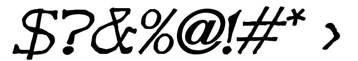 Bart BoldItalic Font OTHER CHARS