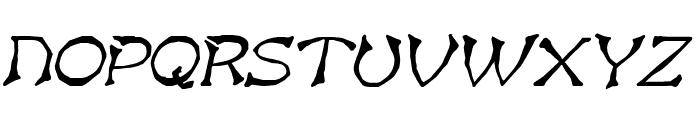 Bart BoldItalic Font UPPERCASE