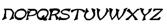 Bart Heavy BoldItalic Font UPPERCASE