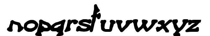 Bart Heavy BoldItalic Font LOWERCASE