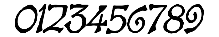 Bart Heavy Italic Font OTHER CHARS