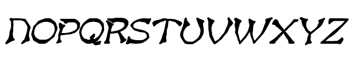 Bart Heavy Italic Font UPPERCASE