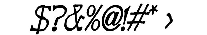 Bart Thin BoldItalic Font OTHER CHARS